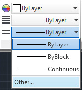 By layer LineType manager