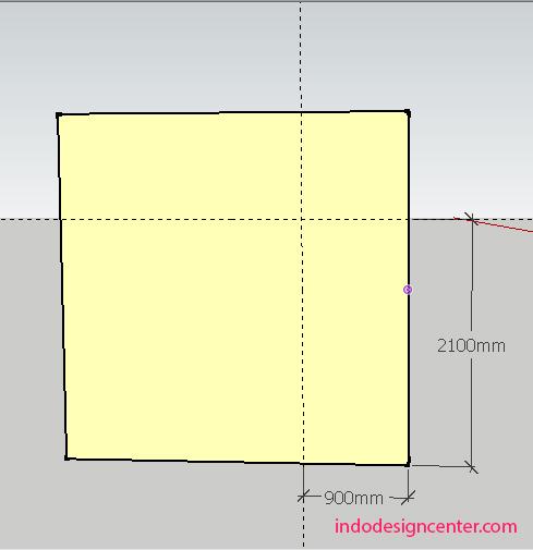 Modeling Pintu Di Sketchup