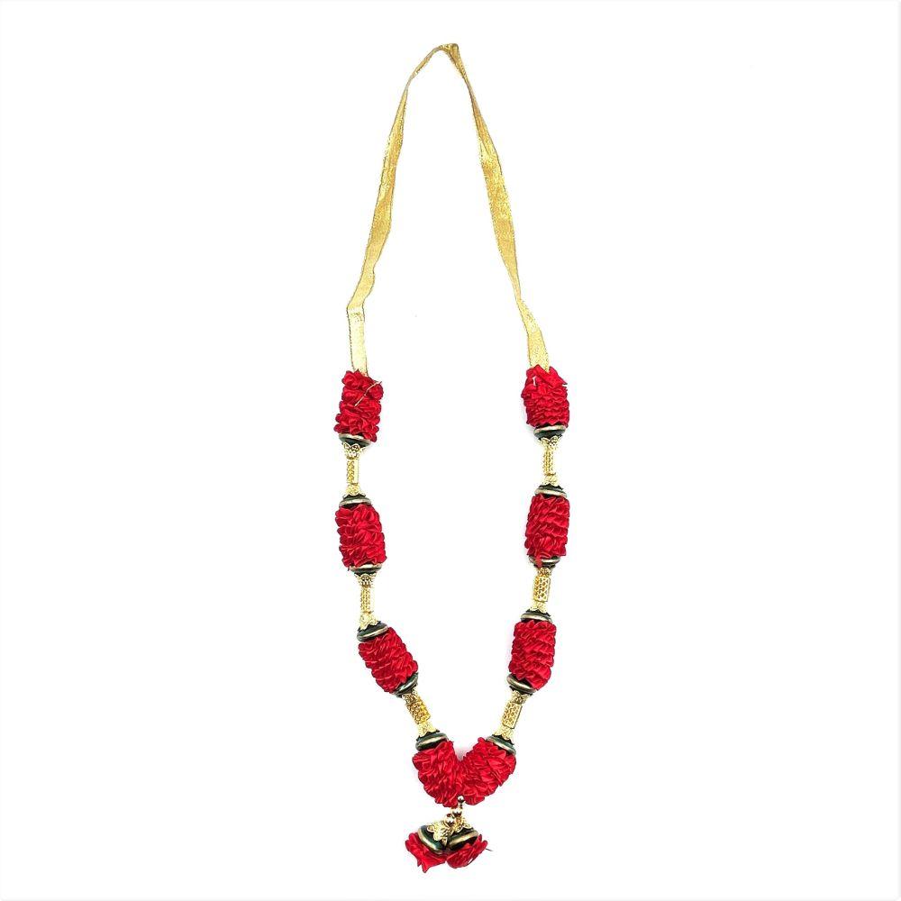 Red or Purple w/ Gold Garland (Mala) - 30cm