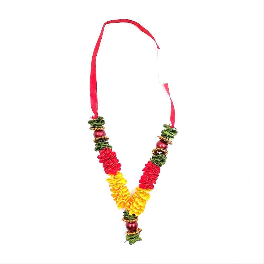 Red & Orange Ribbon Garland (Mala) - 12cm