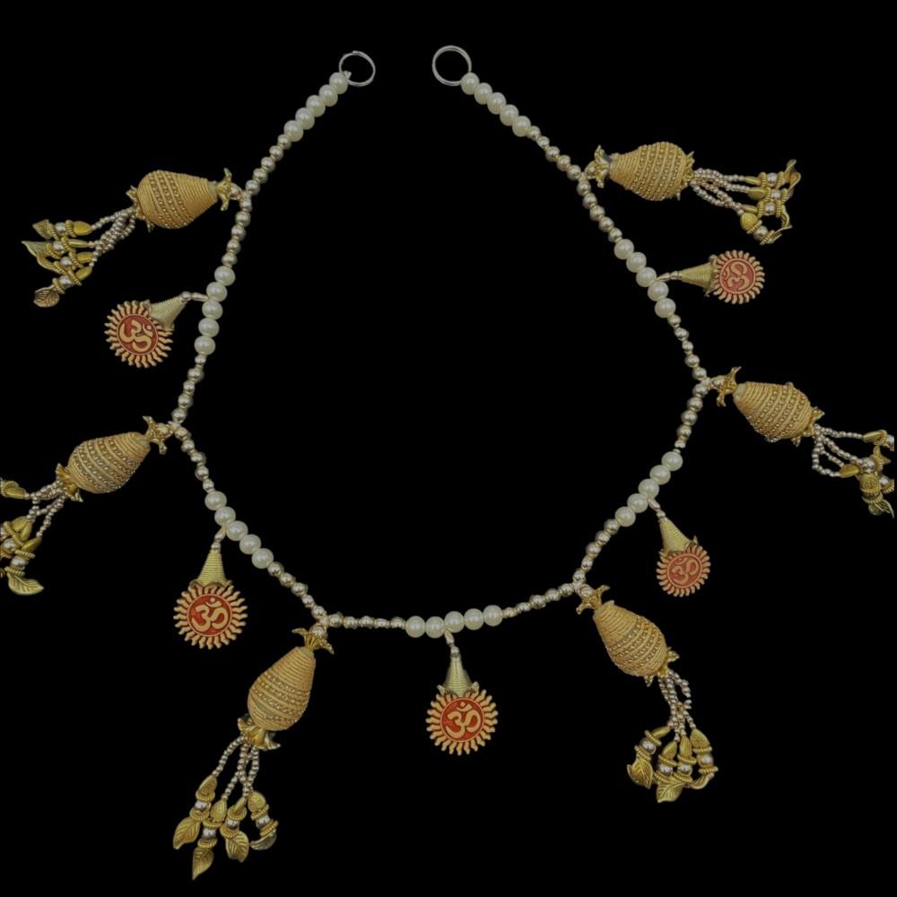 "Om Pearls & Beads Toran - 36"""