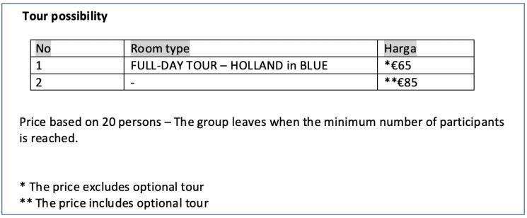 harga holland in blue
