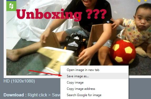 Klik kanan dan save image thumbnail vidio