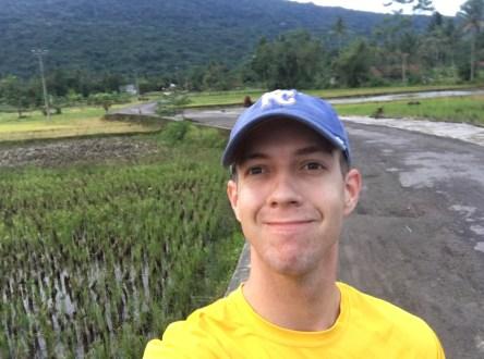 Selfie in the sawah (rice fields)