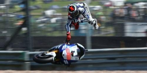 Lorenzo crash at motogp sachsenring