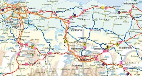 Peta Jalur Mudik 2013