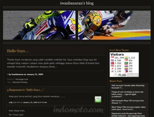 penampakan blog iwanbanaran di awal tahun 2009
