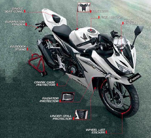 all new honda cbr 150r full accessories