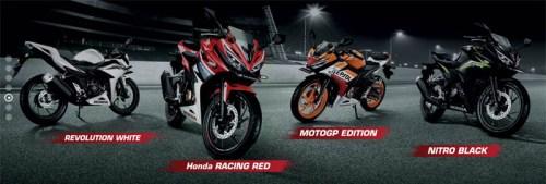 pilihan warna all new honda cbr 150r