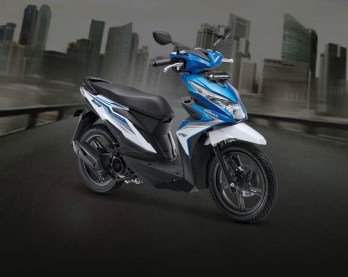 Honda BeAT warna Electro Blue White