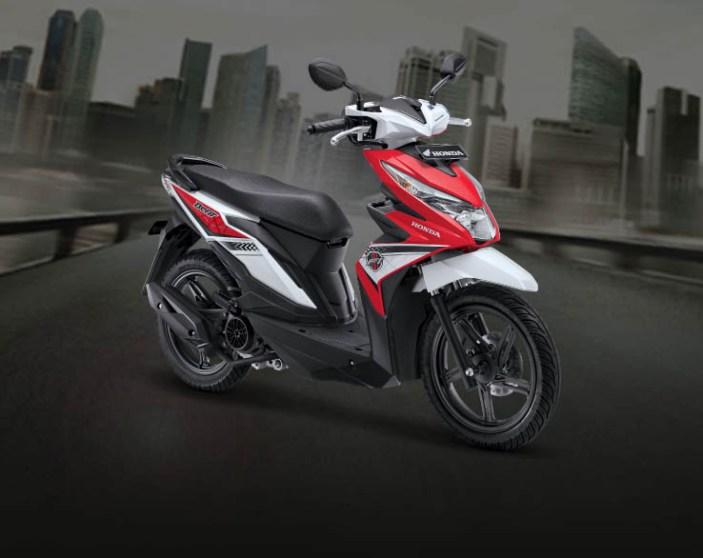 Honda BeAT warna Funk Red White