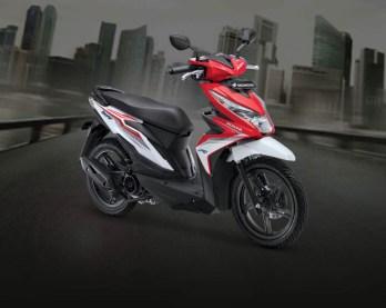 Honda Beat warna Soul Red White