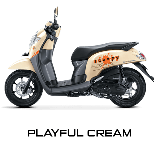 Honda Scoopy warna Playful Cream