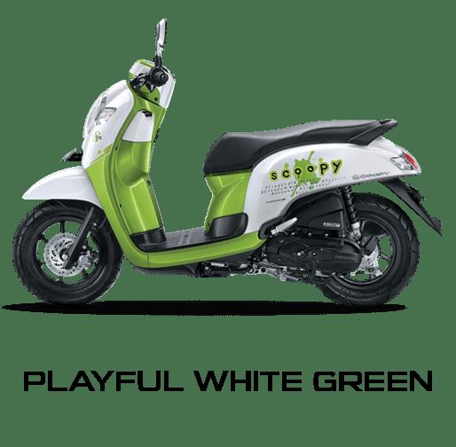 Honda Scoopy warna Playful White Green