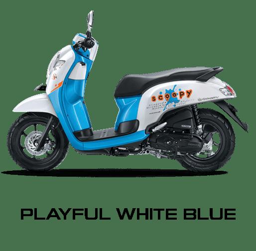 Honda Scoopy warna Playful White Blue
