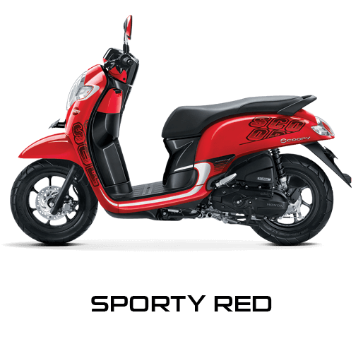 Honda Scoopy warna Sporty Red