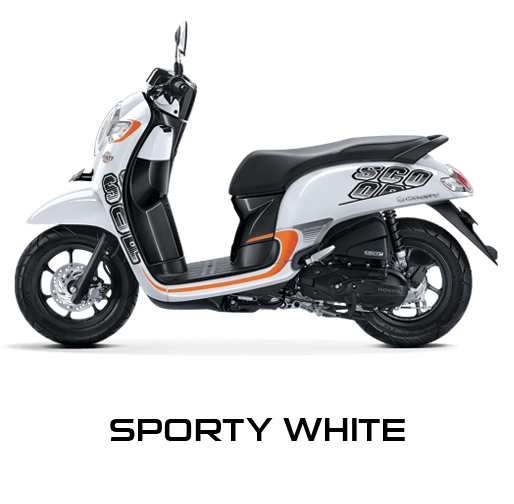 Honda Scoopy warna Sporty White