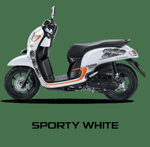 Honda Scoopy warna Sporty White