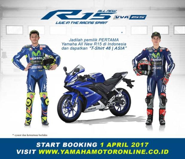 Yamaha All New R15 VVA 155 booking online