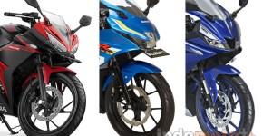 Honda CBR150R vs Suzuki GSX-R150 vs Yamaha R15