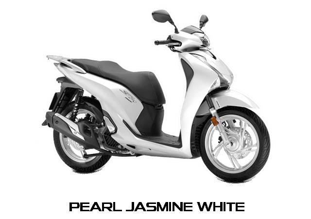 Honda SH150i warna Pearl Jasmine White
