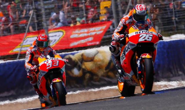 Marquez dan Pedrosa menguji sasis baru Honda di Brno