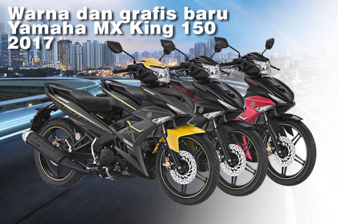 Warna dan grafis Yamaha MX King 150 Terbaru 2017