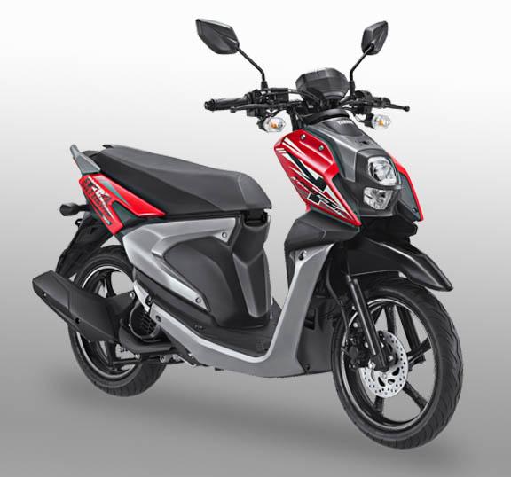 All New Yamaha X-Ride 125 warna passion red (merah)