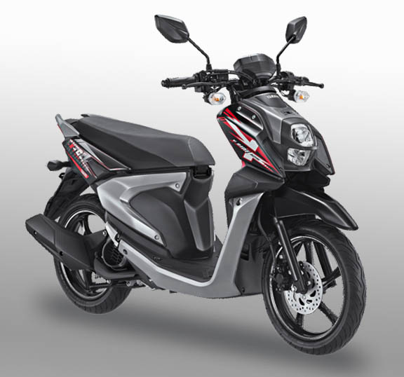 All New Yamaha X-Ride 125 warna tough black (hitam)