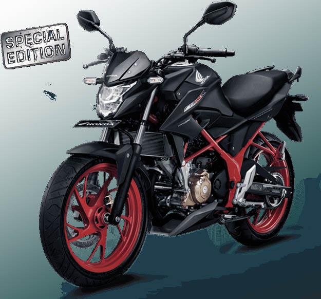 Honda CB150R Streetfire Special Edition warna Raptor Black