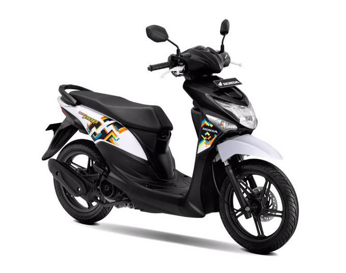 Honda Beat Pop Warna Harmony Black White (Hitam Putih)