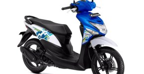 Honda Beat Pop Warna Symphony Blue White (Biru Putih)