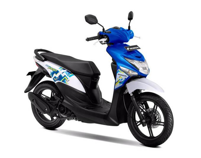 Honda Beat Pop Warna Symphony Blue White (Biru Putih)