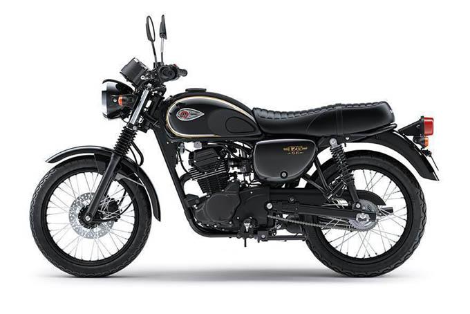 Kawasaki W175 Warna Metallic Spark Black (Hitam)