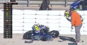 Valentino Rossi crash