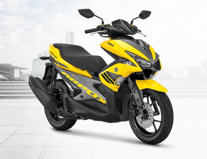 Yamaha Aerox 155 VVA Warna Kuning (Yellow)