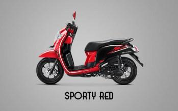 Honda Sccopy Warna Sporty Red
