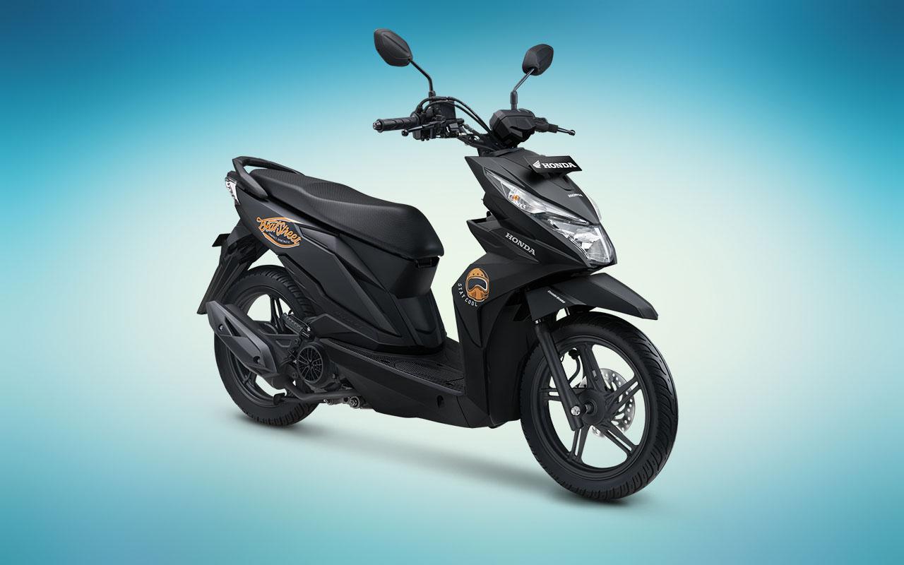 Honda Beat Street warna Special Matte Black