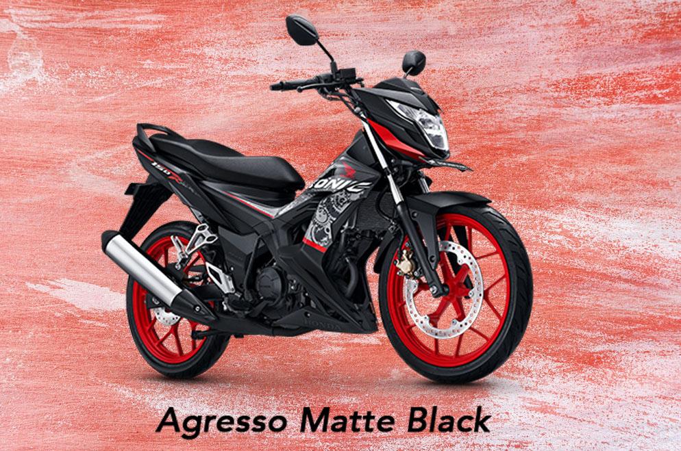 Honda Sonic 150R Warna Agresso Matte Black