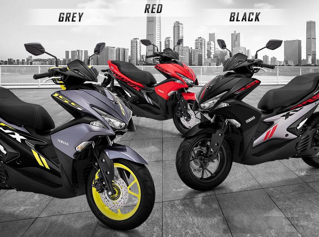 3 Pilihan Warna Yamaha Aerox Versi Standard Terbaru 2019