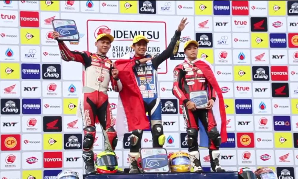 Rafid Topan juara race 1 AP250 ARRC Buriram Thailand