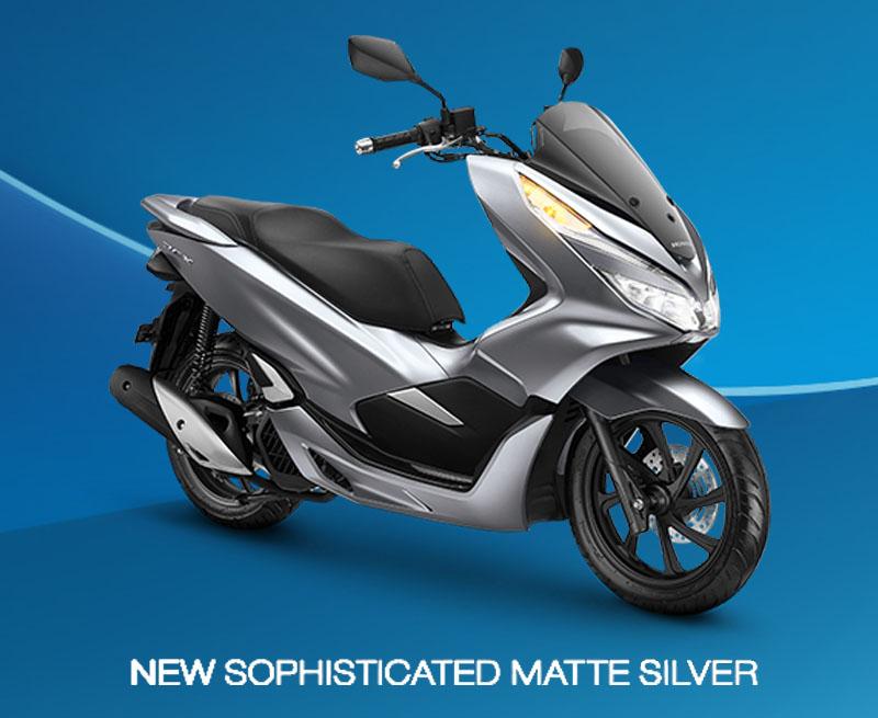 Honda PCX Warna Silver