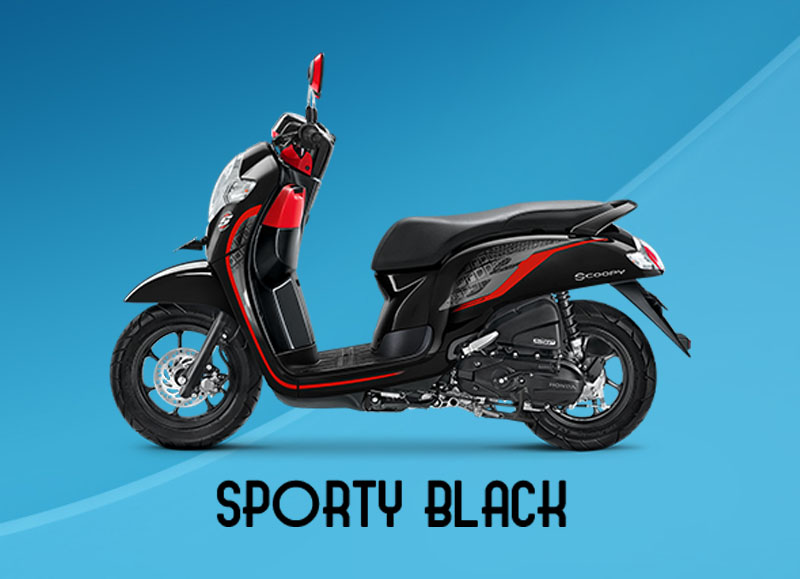 Honda Scoopy Warna Sporty Black