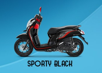 Honda Scoopy Warna Sporty Black