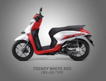 Honda Genio Warna Trendy White Red