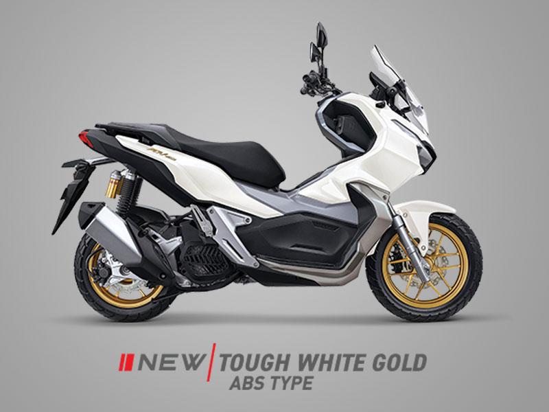Honda ADV150 warna tough white gold