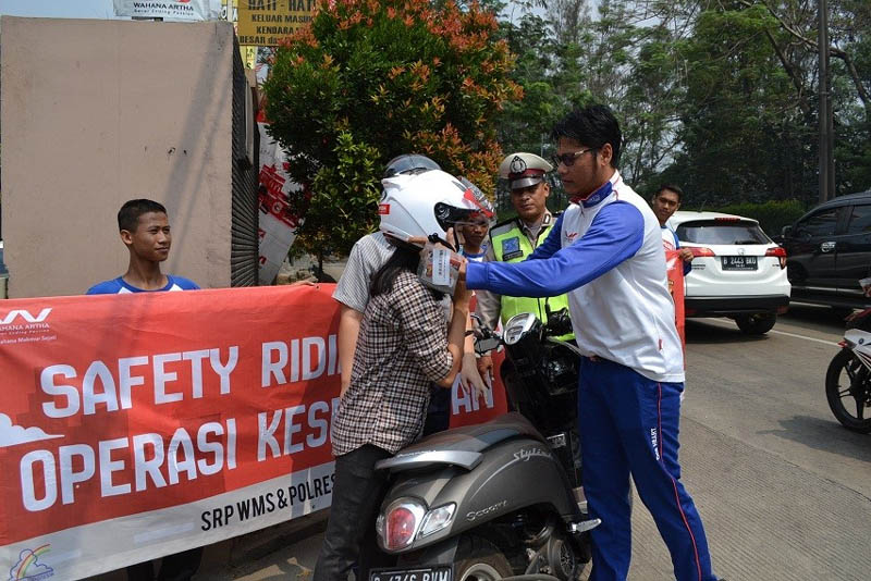 kampanye safety riding Wahana Honda