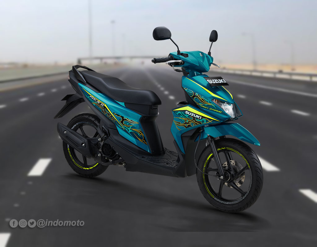 Suzuki Nex II Varian Fancy Dynamic Warna Jackal Green
