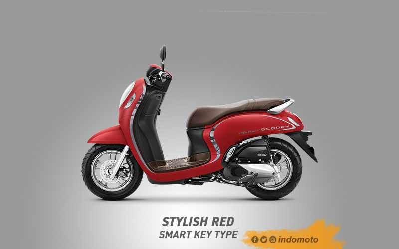 All New Scoopy Warna Stylish Red