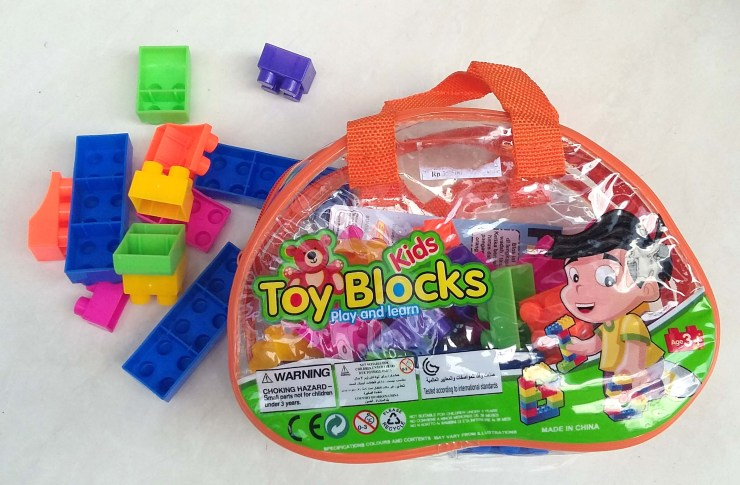 Mini building blocks - perfect when packing for a trip with a toddler